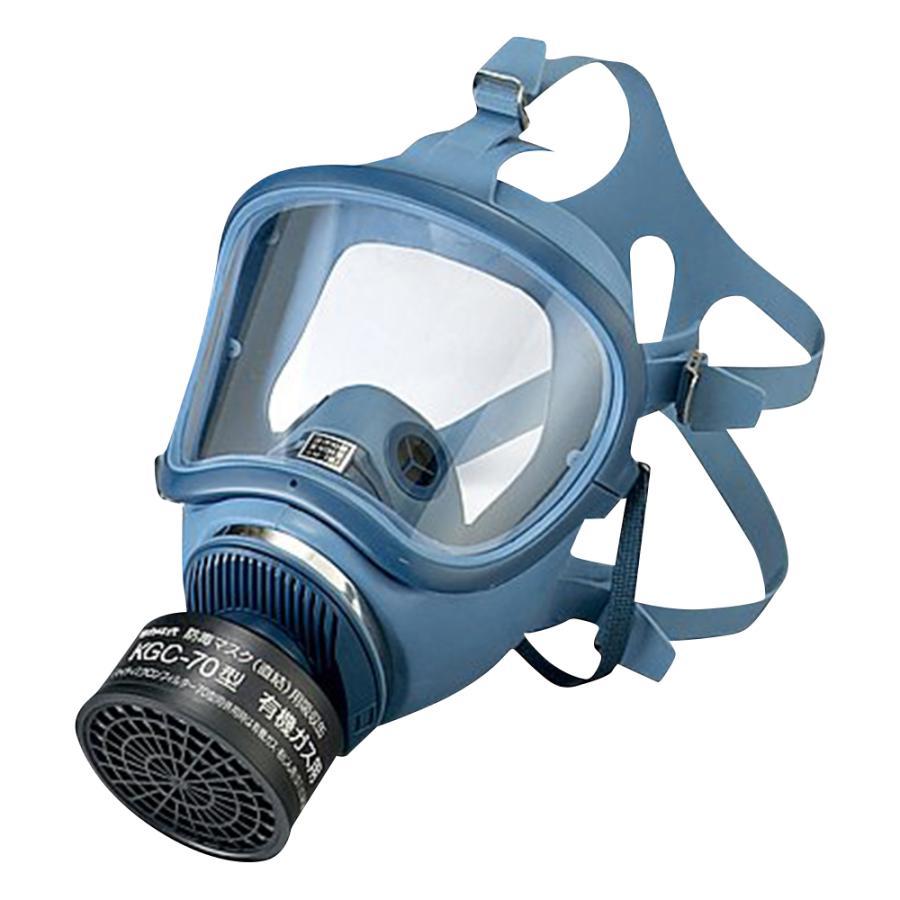 防毒マスク(直結式・ガス濃度1.0%以下) HV-22-03型 興研 aso 1-1992-01 医療・研究用機器