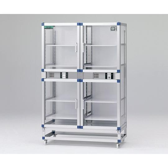 オートドライデシケーターFNツイン 1152×524×1770mm 強化プラスチック棚板 アズワン aso 1-4844-03 医療・研究用機器