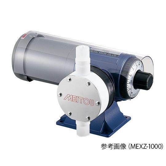ダイヤフラム式定量ポンプ (50Hz)200〜2000mL/min (60Hz)240〜2400mL/min フッ素樹脂 名東化工機 aso 1-64