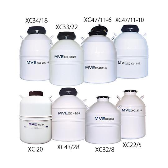 液体窒素保存容器 XC34/18 チャート aso 2-5895-05 医療・研究用機器