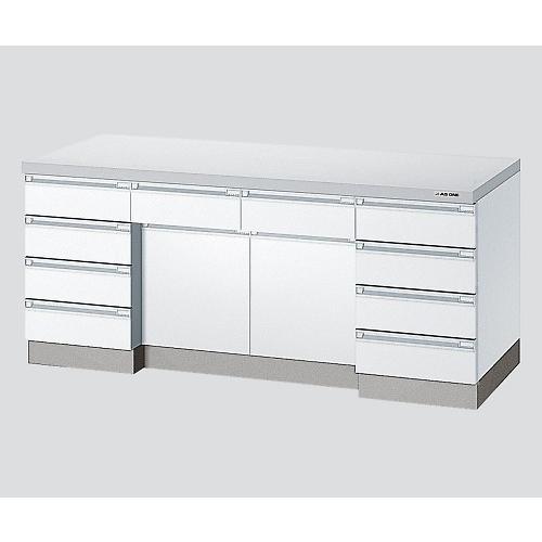 サイド実験台 ホワイト・木製タイプ 2400×750×800 アズワン aso 3-1280-12 医療・研究用機器