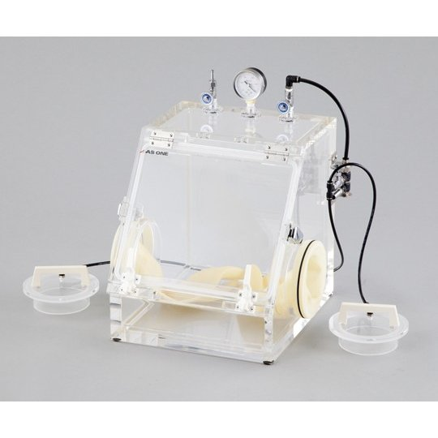 オールアクリル真空グローブボックス 420×440×450mm アズワン aso 3-471-02 医療・研究用機器
