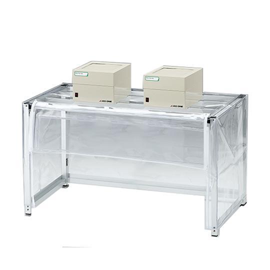 折りたたみ簡易ドラフト ファンユニット2台付き 1000×500×550(700) アズワン aso 3-6786-02 医療・研究用機器