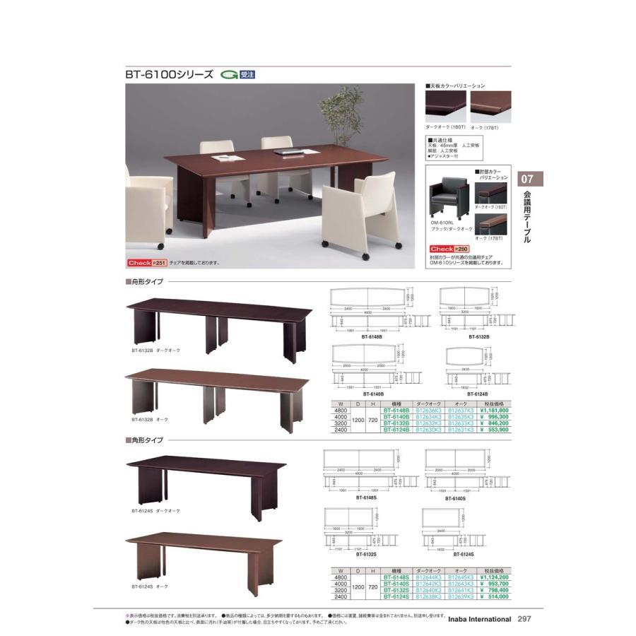 【全国配送可】-イナバ 会議用テーブル 会議用テーブル BT-6140B オーク 品番(B12635K3) 品番(B12635K3)