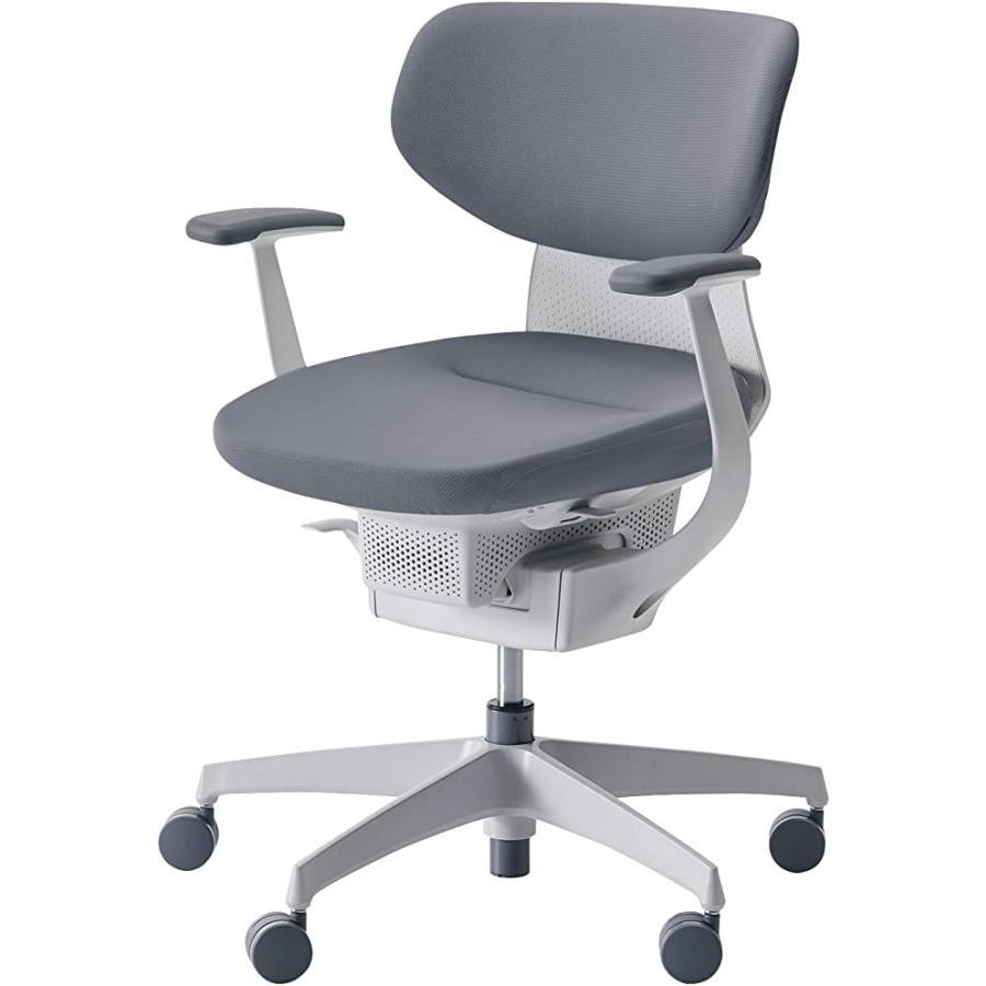 コクヨ オフィスチェア イング CR-GW3201E1G4E3-W ラテラルタイプ ホワイトシェル T型肘 T型肘 樹脂脚ホワイト 布ソフトグレー