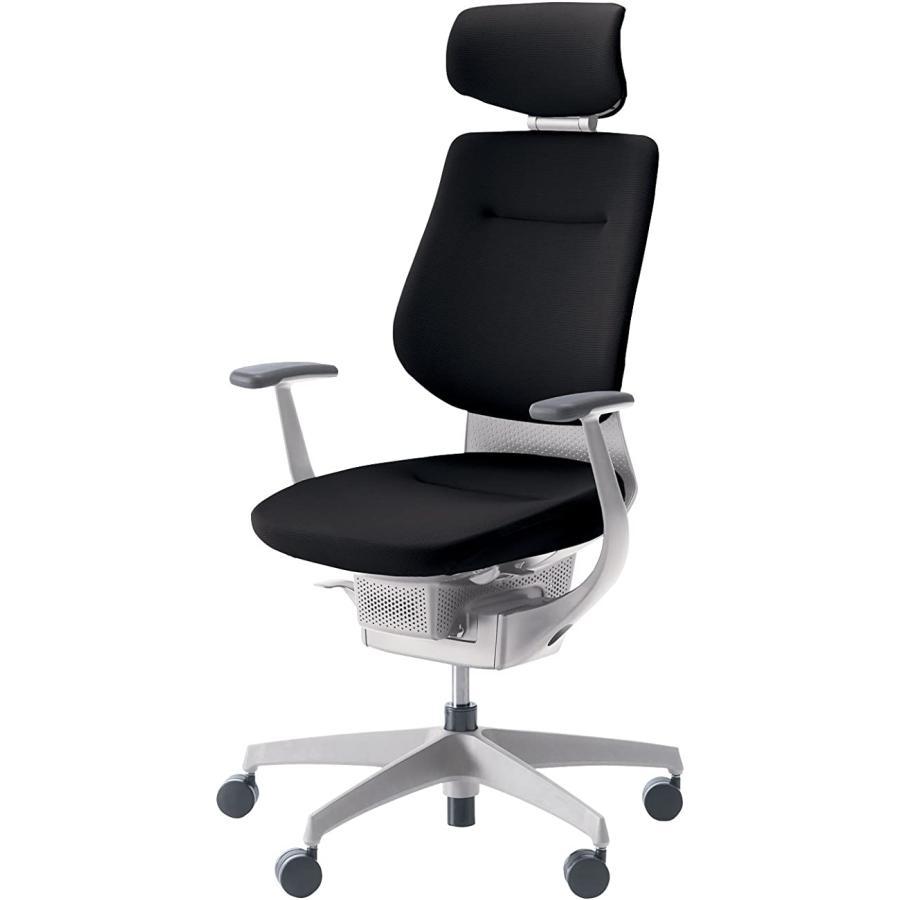 コクヨ オフィスチェア オフィスチェア イング CR-GW3205E1G4B6-V ヘッドレスト付タイプ ホワイトシェル T型肘 樹脂脚ホワイト 布ブラック