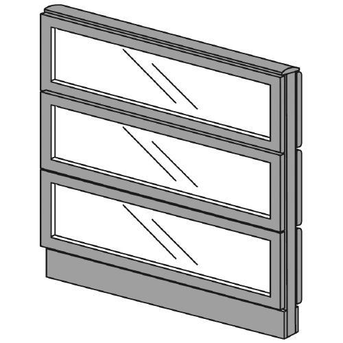送料無料 LFパネル ガラスパネル3段 ガラスパネル3段 LF-0910G DGY (jtx 625574) プラス