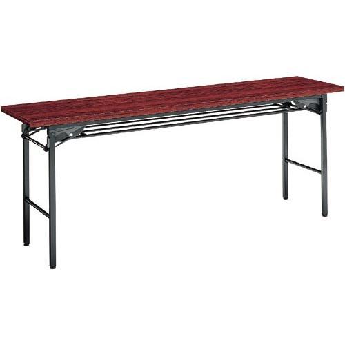 ●送料・組立・設置が無料  KT−S30RNN 脚折りたたみテーブル 棚付 D450 ローズ kaf003598 5008-5880|tukishimado