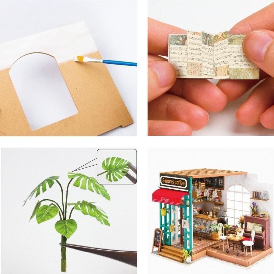 つくるんです DG109 コーヒー|Robotime 日本公式販売/日本語説明書付 DIY ミニチュアハウス ドールハウス|tukurundesu|05