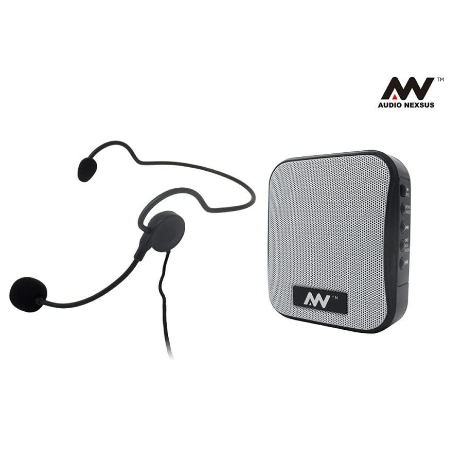 飛沫拡散防止対策にハンズフリー ポータブル拡声器 MP3フォーマットでUSBメモリ、Micro SDカードに録音可能、リチウムイオンバッテリ|turaronkon|02