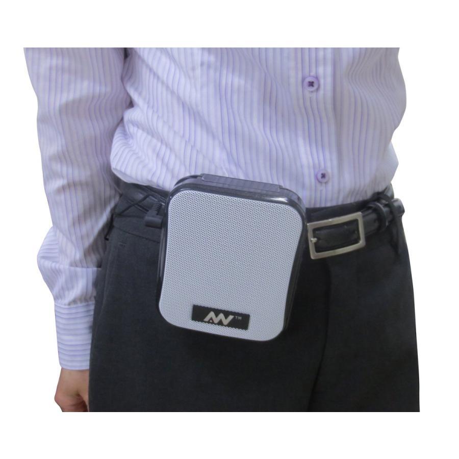 飛沫拡散防止対策にハンズフリー ポータブル拡声器 MP3フォーマットでUSBメモリ、Micro SDカードに録音可能、リチウムイオンバッテリ|turaronkon|06