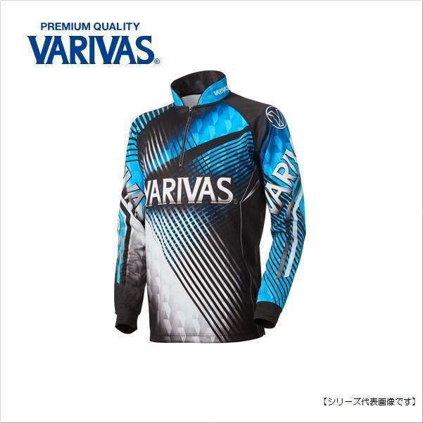 バリバス(VARIVAS) ドライジップアップシャツ(長袖) ブルー LL VAZS-21