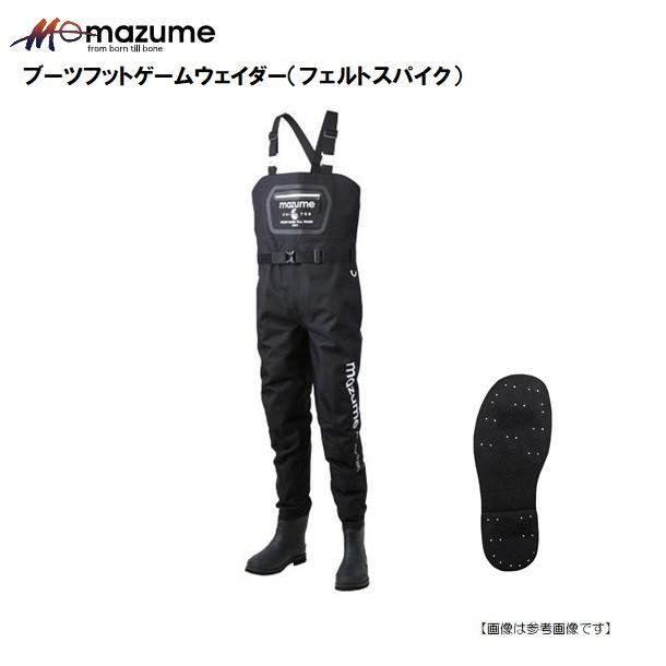 【大感謝セール対象品】マズメ(MAZUME) ブーツフットゲームウェイダー ブラック ・サイズ/M (フェルトスパイク)