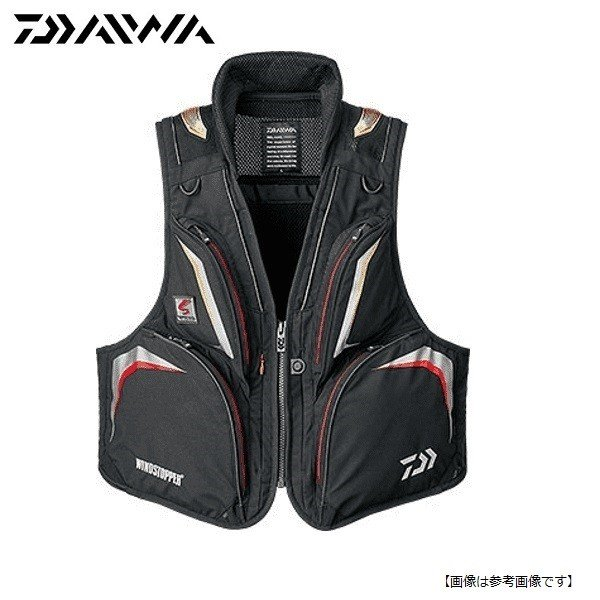 ダイワ(DAIWA) スペシャル ウィンドストッパーショートベスト DV-1006 ブラック M