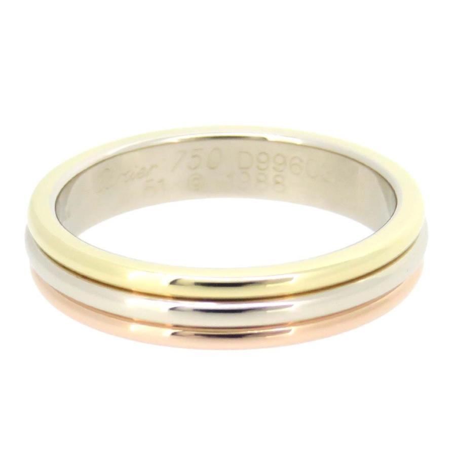 【予約】 カルティエ スリーゴールド リング トリニティ スリーカラー バンドリング 結婚指輪 マリッジリング K18YG K18WG K18PG 【ジュエリー】, ジュエリーセキネ b1026204