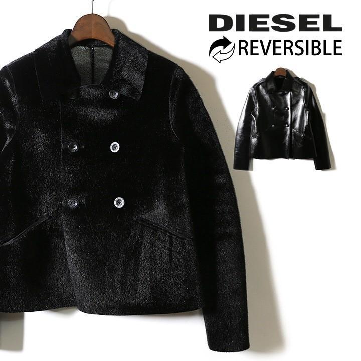高級素材使用ブランド ディーゼル DIESEL ジャケット レディース リバーシブル エナメル フェイクレザー L-PARIS, BILLS ffab797e