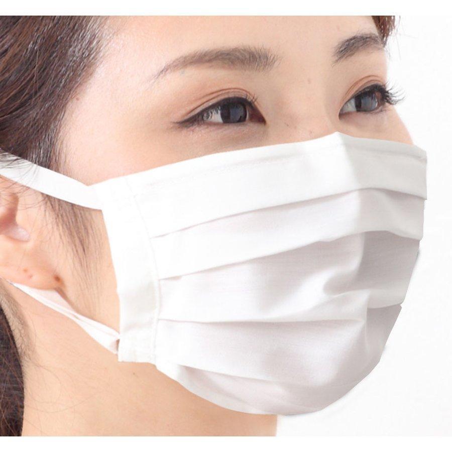 ツーヨン洗えるマスク クレンゼ・布マスク 2枚入り 抗ウイルスマスクプリーツタイプ UVカット付き  無地 耳が痛くならないフラットテープ使用T-93 tuyon 16