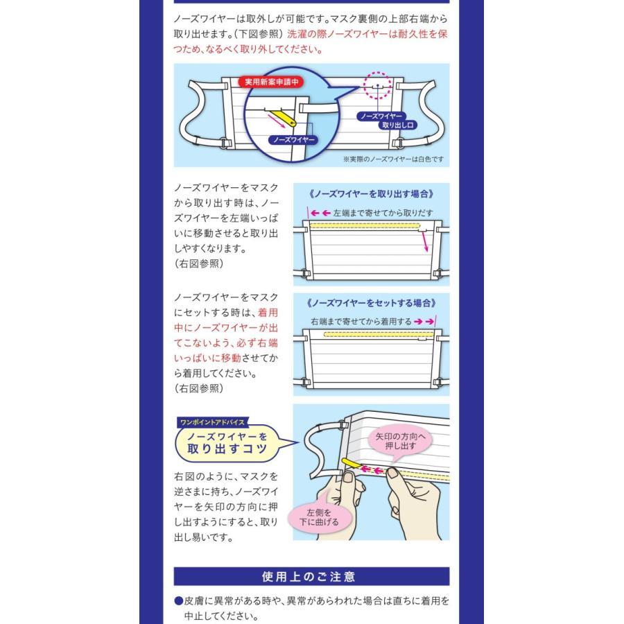 日本製・ツーヨン洗えるマスク クレンゼ・布マスク 2枚入り 抗ウイルスマスクプリーツタイプ UVカット付き  無地 耳が痛くならないフラットテープ使用 T93J tuyon 06