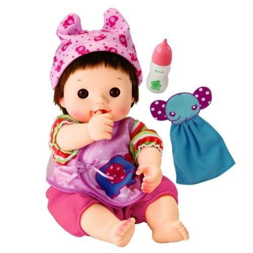 ぽぽちゃん お人形 やわらかお肌のちいぽぽちゃん ごくごくミルク&ぞうさんタオルつき|tweedia