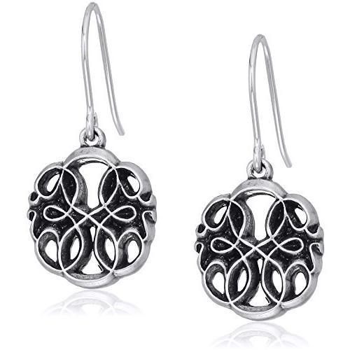 高級品市場 Alex and Ani Womens Path of Life Hook Drop Earrings, Rafaelian Silver,, 西彼町 b1522ab6