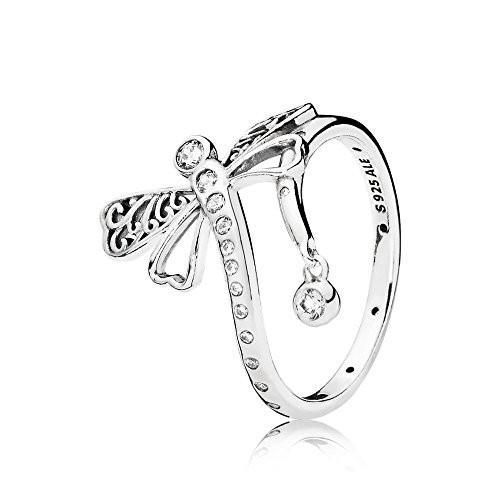 高級素材使用ブランド Pandora Ring Pandora Dreamy 197093CZ-54 woman silver Ring Dreamy Dragonfly, 便利グッズのお店 AQSHOP:3dca7e8c --- airmodconsu.dominiotemporario.com