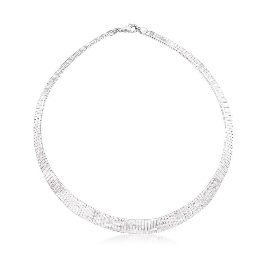全国宅配無料 Ross-Simons Italian Sterling Silver Greek Key Cleopatra Necklace, ブルーベリーバンク 4831c7f6
