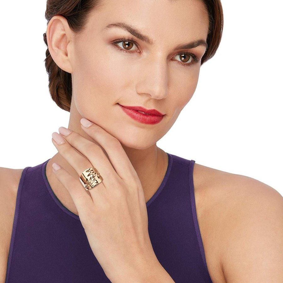 Ross-Simons Italian 14kt Yellow Gold Openwork Floral Ring
