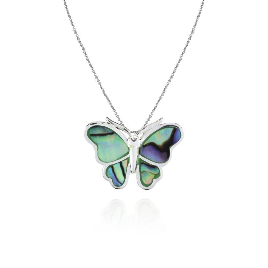 直送商品 Sterling Silver Abalone Polished Butterfly Slide Pendant Necklace, シートカバー専門店のコネクト d1aeb93e