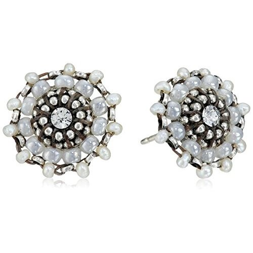 大洲市 Miguel Ases Seed Pearl Earrings and and Sterling Silver Stud Small Stud Earrings, 【超特価sale開催】:4647c4ad --- airmodconsu.dominiotemporario.com
