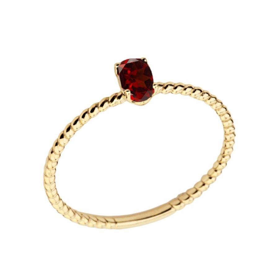 特売 Dainty Oval-Shaped 14k Yellow Gold Gold Stackable Stackable Oval-Shaped Garnet Rope Engagement/Pr, LIFE MARKET 暮らし収納お洗濯:d66acf53 --- airmodconsu.dominiotemporario.com