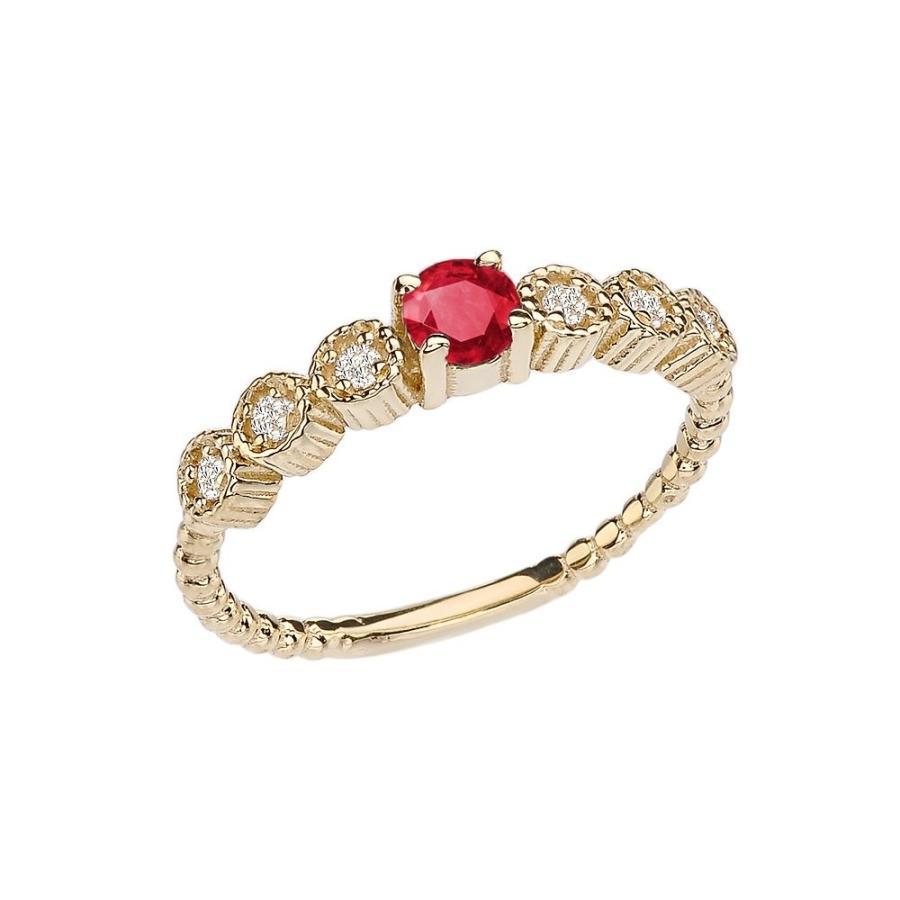 低価格で大人気の 14k Diamond Collection in Stackable/Promise Beaded Popcorn 14k Collection Ring in Yellow, JPLAMP:64fcb66c --- airmodconsu.dominiotemporario.com