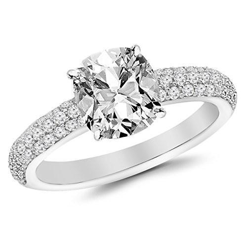 大特価 2 Ctw 14K Row White Ctw Gold Classic Triple Row C Diamond Engagement Ring (1.5 C, Lives:e3957d0a --- airmodconsu.dominiotemporario.com