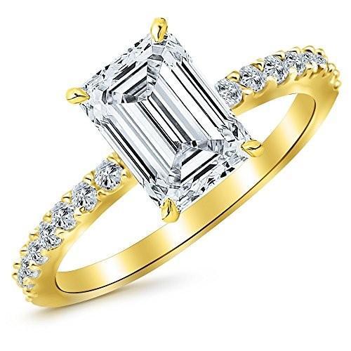 希少 黒入荷! 1.3 Ctw Engagement 14K Yellow Yellow Gold Classic Side Stone Pave Ctw Set Diamond Engagement, 舞衣夢:ac317ddd --- airmodconsu.dominiotemporario.com