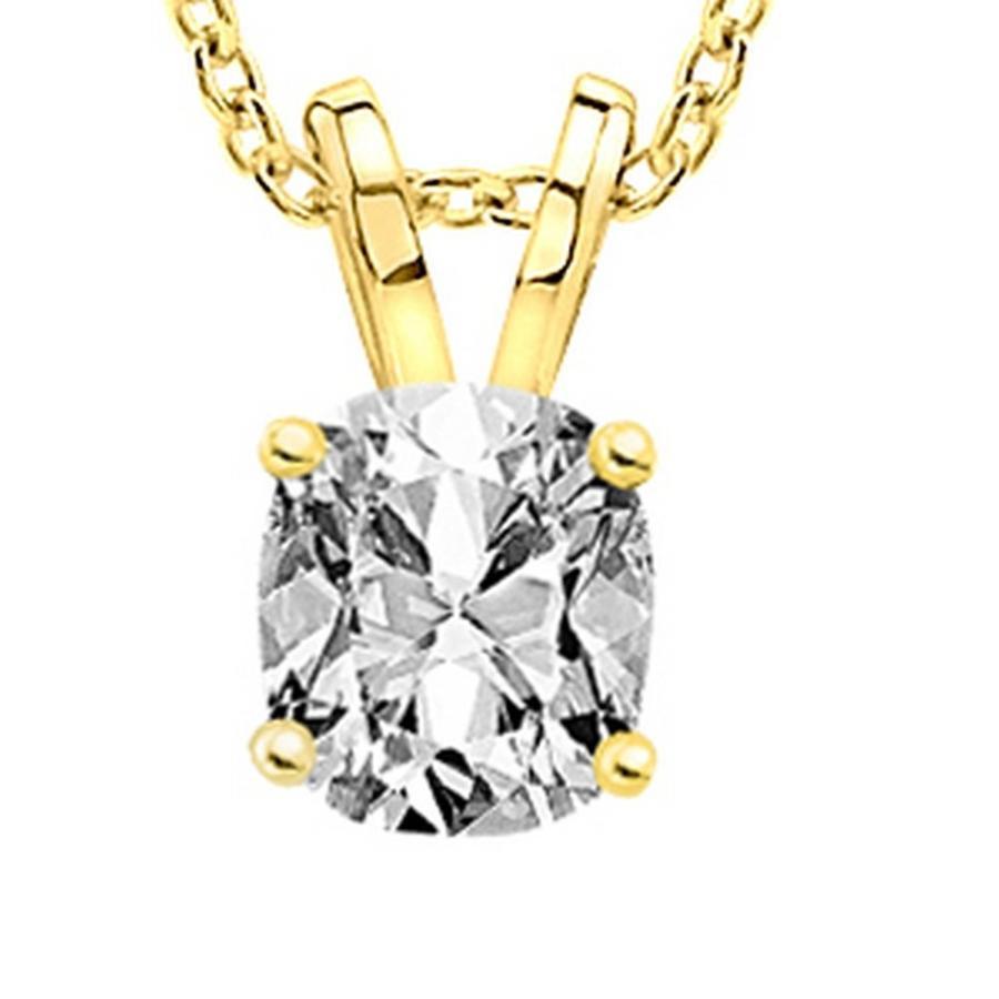 【メーカー包装済】 1 Necklace Carat 14K Yellow Yellow Gold K Cushion Diamond Solitaire Pendant Necklace K C, キクチシ:e43875f4 --- airmodconsu.dominiotemporario.com