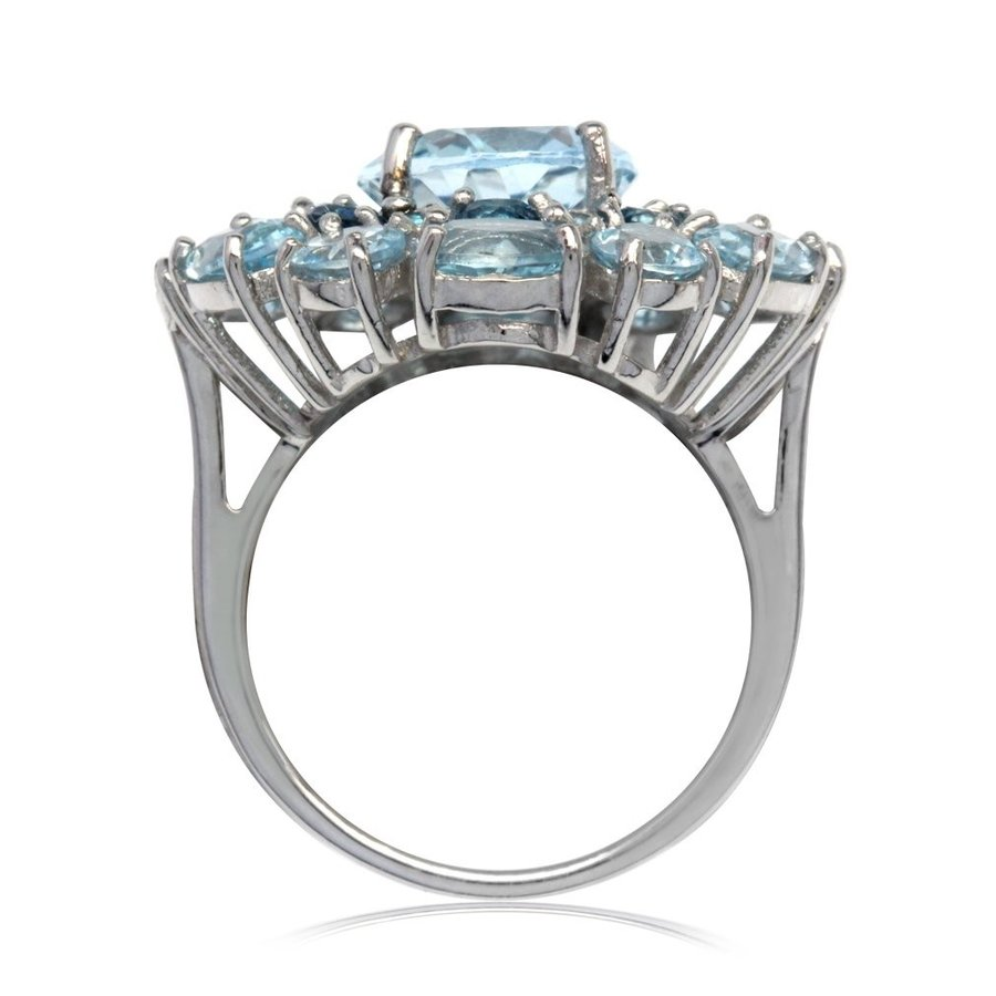 人気カラーの 11.14ct. Topaz Genuine Blue Topaz & London Blue Blue Topaz 925 Gold Plate 925 Sterlin, アクアスペース:13f3c436 --- airmodconsu.dominiotemporario.com