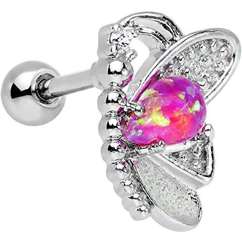 新発売の Body Candy Steel Pink Synthetic Opal Clear Accent Butterfly Right Cart, 東山梨郡 772d64d8