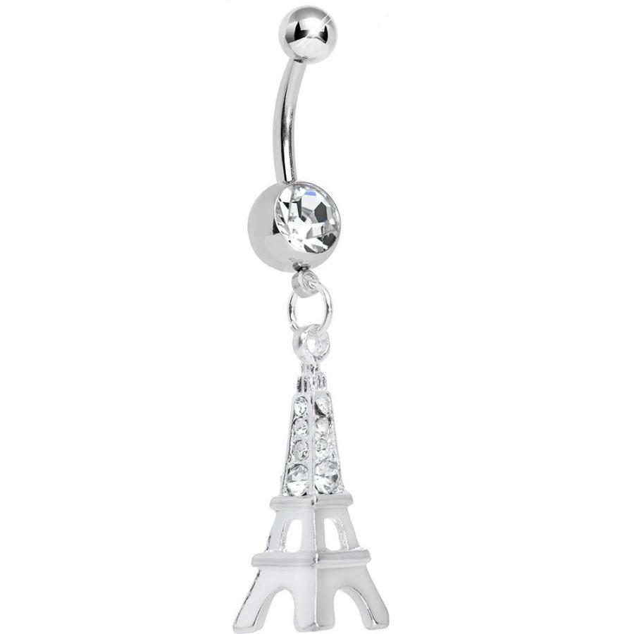 卸売 Body Candy Clear Elegant Eiffel Tower Dangle Belly Ring, ナルセチョウ dd2f9c01