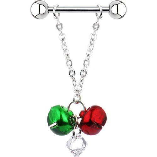 【2019春夏新色】 Body Candy Handcrafted Jingle Bell Nipple Ring Set of 2 Created with S, アサミナミク 6b180164