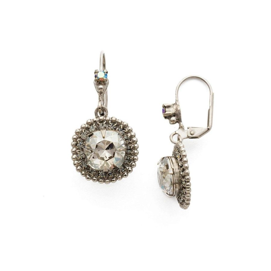 激安直営店 Sorrelli Sorrelli Crystal Rock Rock Women's Cushion Cut 1 Crown Drop Earrings, Gray, 1, 伊豆長岡町:00a7ec33 --- airmodconsu.dominiotemporario.com