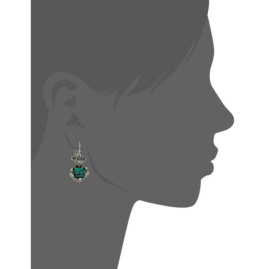 超熱 1928 Jewelry Women's Pewter Round Semi Precious Green Malachite Teddy, Joliedame(ジョリダーム) 661de495