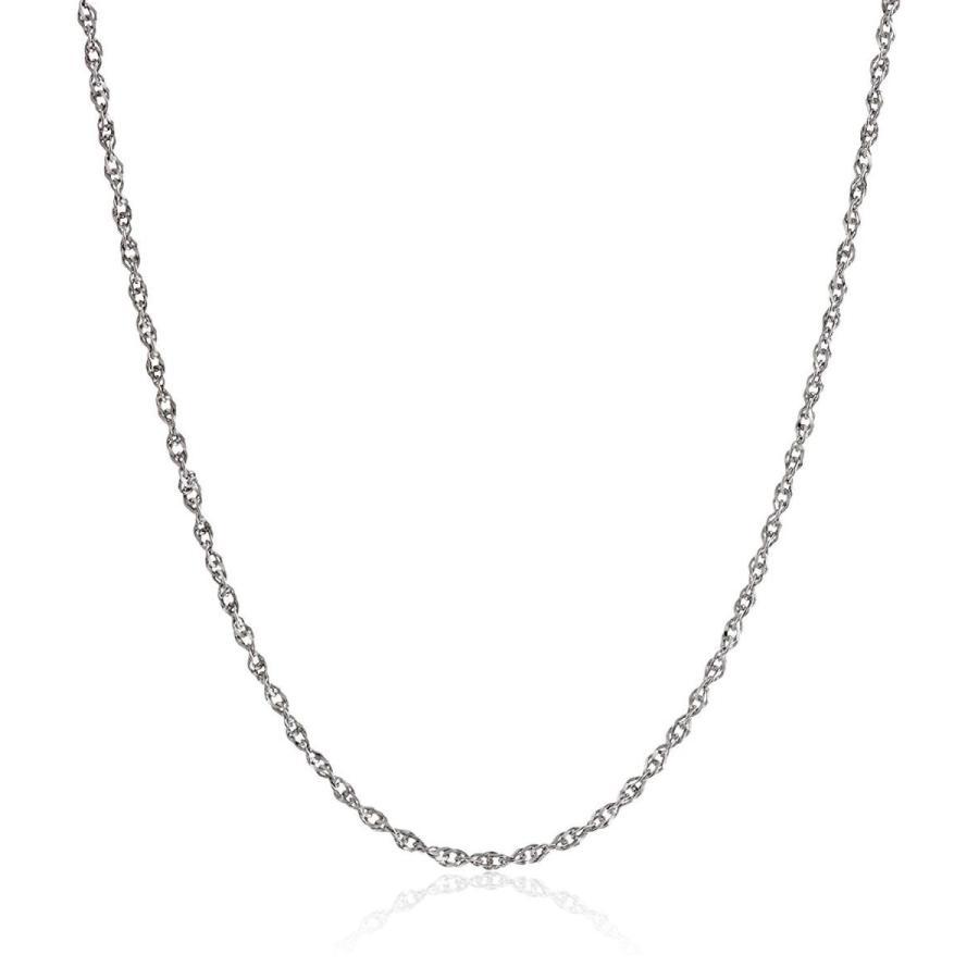 ★決算特価商品★ 14k White Gold Solid Perfectina Chain Necklace (1.0mm), 18
