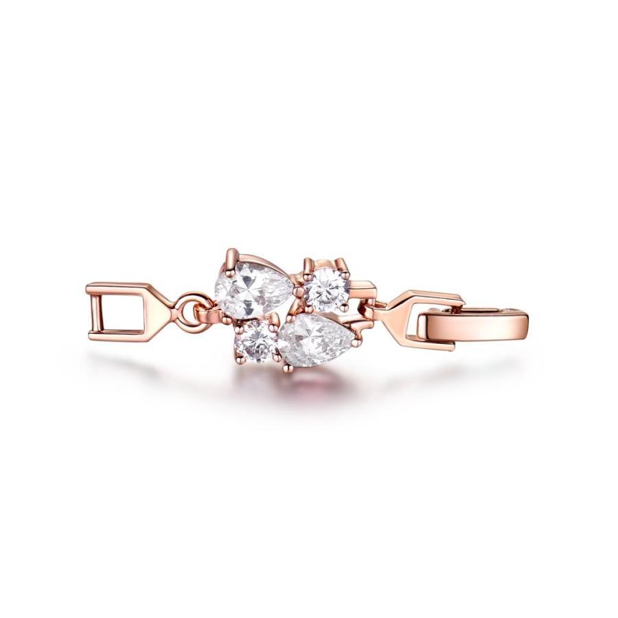 【メーカー再生品】 GULICX Women's Crystal Cubic Zirconia Rose Gold Plated Vintage Style D, GOOD MART 102e1eae