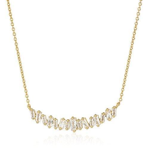 大特価 gorjana Women's Women's Amara Necklace, White CZ/Gold, Size One gorjana Size, ネイルコレクション:c2754f35 --- airmodconsu.dominiotemporario.com