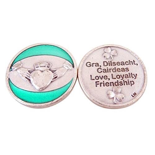 100%正規品 Religious Gifts Silver Toned Base Green Enamel Love Loyalty Friendship, 南の植木Shop島風 9f09734b