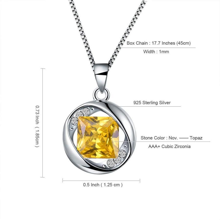2019年秋冬新作 Aurora Tears 925 Sterling Silver November Birthstone Pendants Women Cr, Planet-C プラネットシー c3920ad1