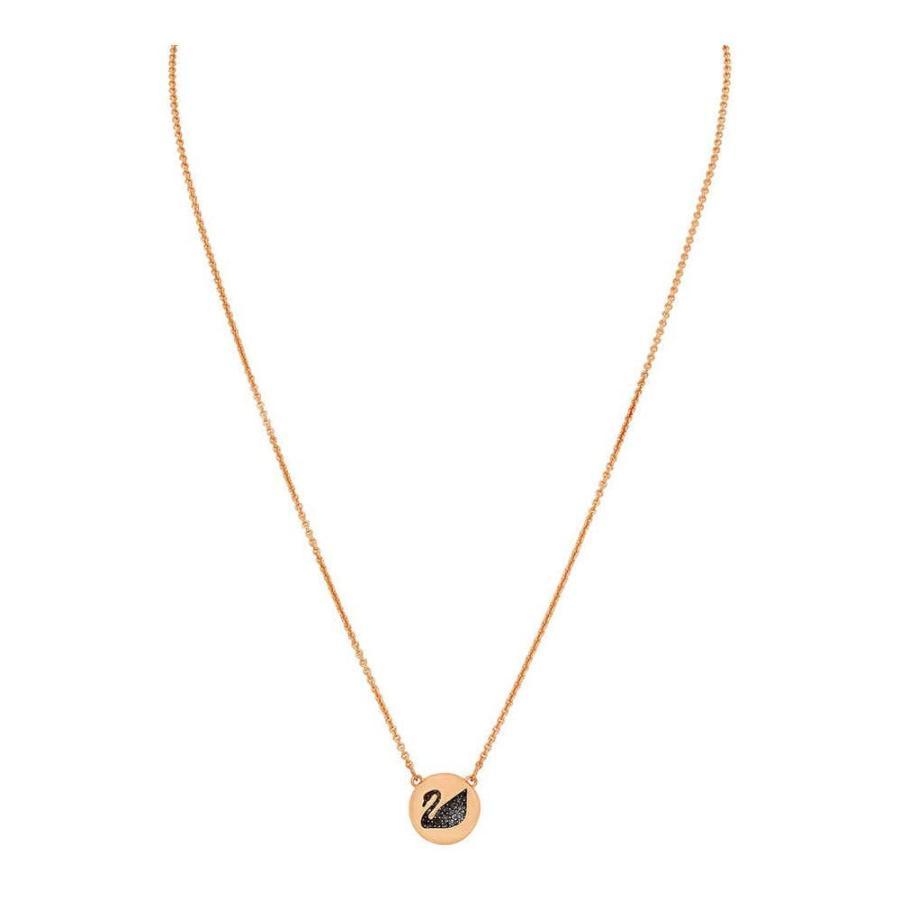 【保証書付】 Swarovski Hall Swan Pendant, Gray, Rose Gold Plating, STADIUM dfd74201