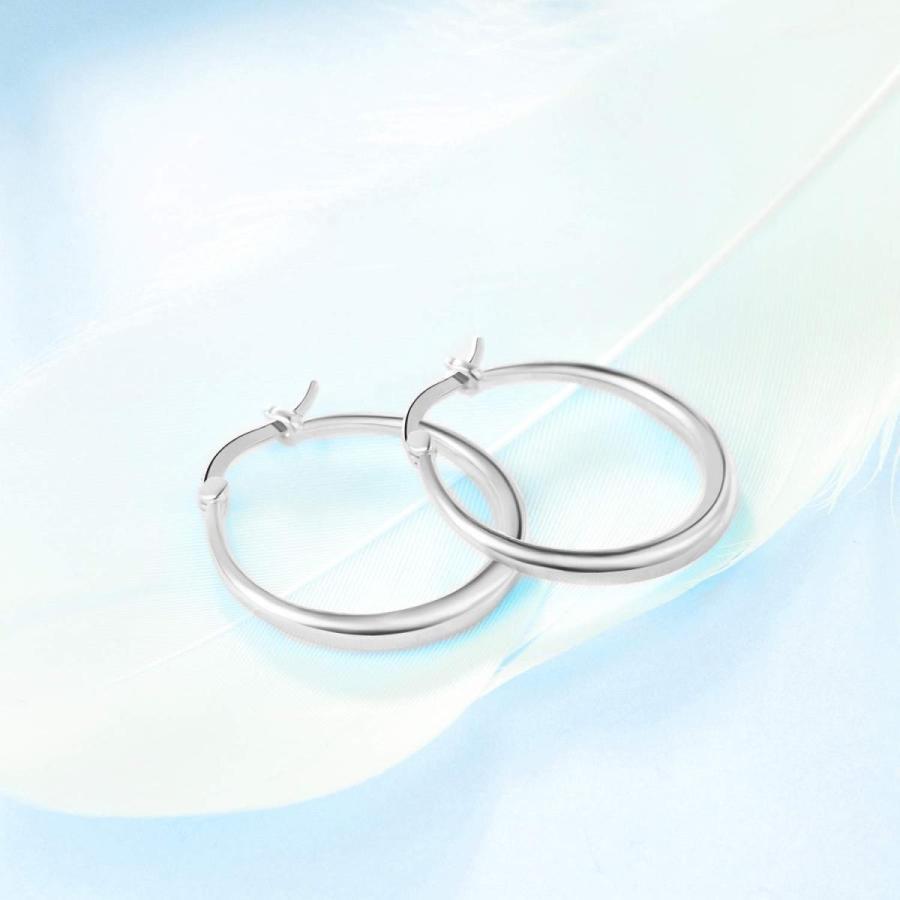 素晴らしい外見 YFN Sterling Silver Classic Hoop Earrings Diameter:0.97inch(24.7mm) fo, キタムログン da012bba