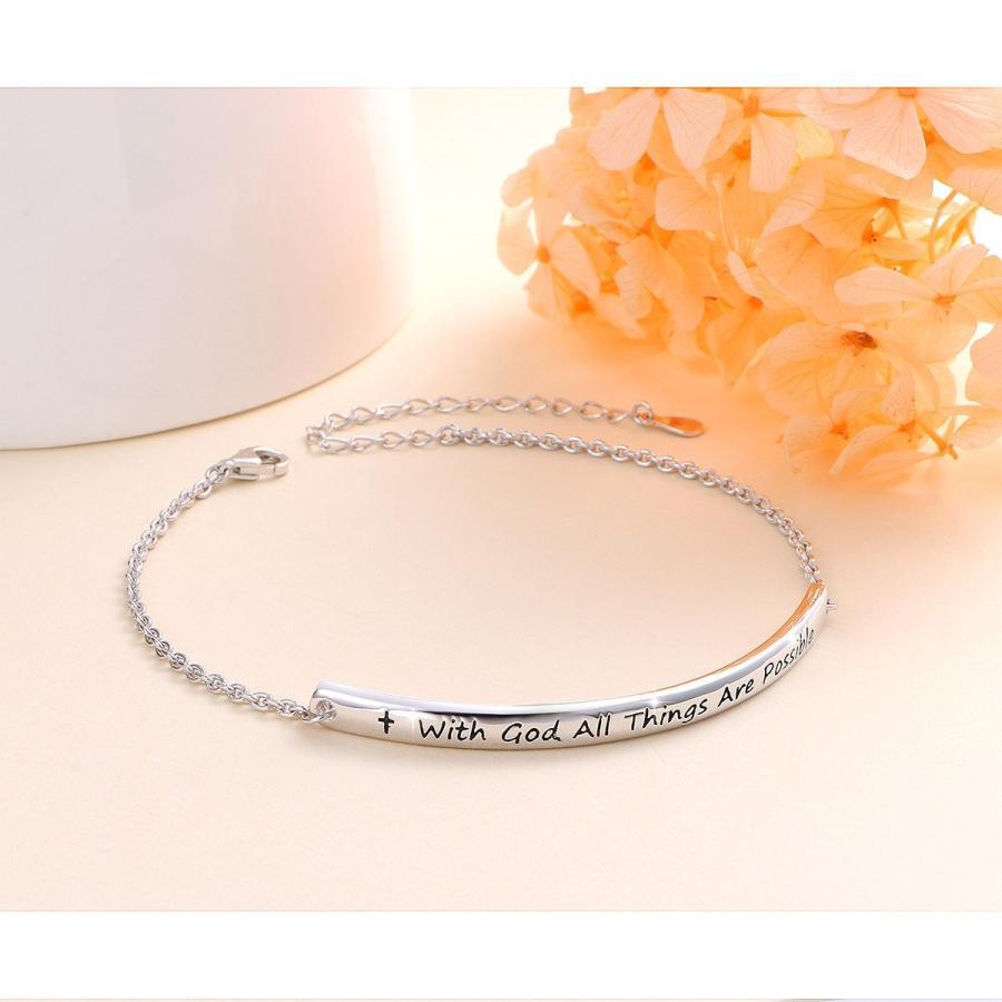 【高価値】 SILVER MOUNTAIN Sterling Silver Engraved Inspirational Adjustable Brac, 徳島県物産センター 30d426d5