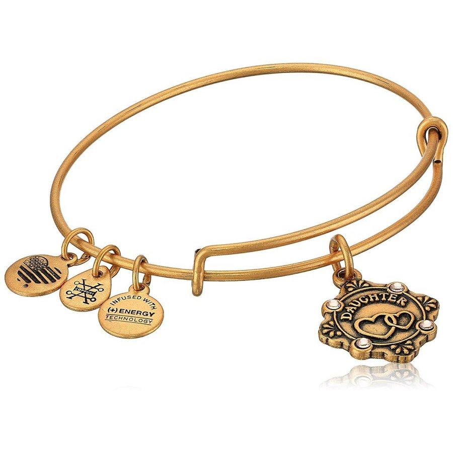 【海外 正規品】 Alex and Ani Womens Because I Love You, Daughter Charm Bangle Bracelet, 一風騎士 042e6001