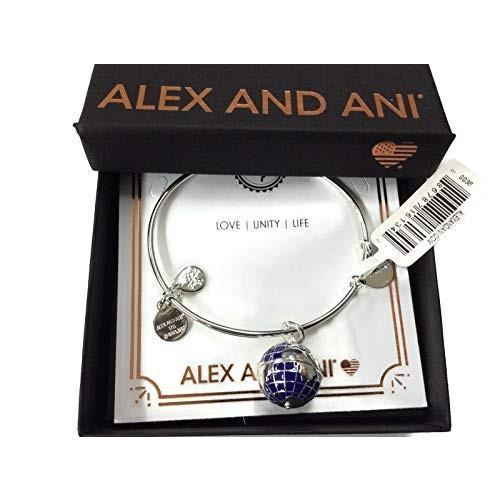 【美品】 Alex One and Ani Women's Globe Size Bangle Bracelet Shiny Silver Shiny One Size, SPRING MOON:c4a4d6af --- airmodconsu.dominiotemporario.com